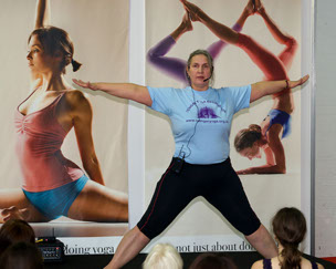 Christina Niewola teaching at The Yoga Show
